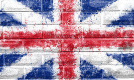 被绘的英国国旗 库存图片