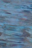 被绘的铁的纹理 蓝色污点,铁锈 库存照片