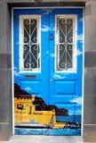 被绘的门 免版税库存图片