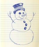 被绘的雪人 免版税库存照片