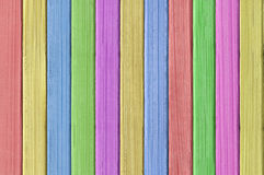 被绘的颜色木纹理特写镜头 免版税图库摄影