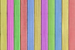 被绘的颜色木纹理特写镜头 图库摄影