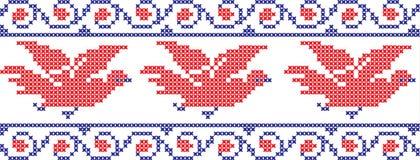 被绣的鸟 免版税库存照片