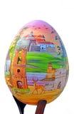 被绘的鸡蛋 大复活节彩蛋街道节日在Sofievskaya广场的 查出 免版税库存照片