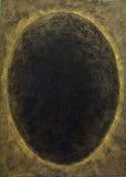 被画的黑卵形孔拉扯 免版税库存照片