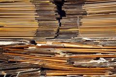 被击碎和被包装的纸板 免版税库存图片