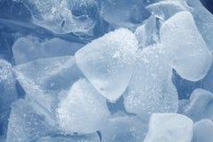 被击碎的冰背景  库存图片