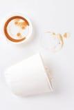 被击碎的咖啡杯 免版税图库摄影