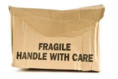 被击碎的易碎的箱子 免版税库存照片
