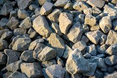 被击碎的石或有角岩石 图库摄影