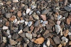 被击碎的石头 库存图片