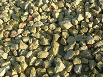 被击碎的石头 免版税库存照片