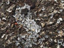 被击碎的玻璃照片  免版税库存图片
