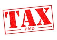 被缴纳的税 免版税库存图片
