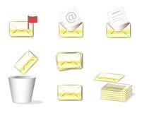 被绝缘的小组黄色信封信件 库存照片