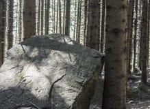 被刻记的岩石 库存图片