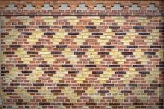 被仿造的砖墙纹理 库存图片