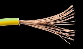被暴露的缆绳和导线 库存图片