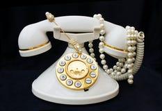 裁减路线成珠状电话葡萄酒 免版税库存照片