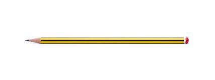 裁减路线铅笔 库存图片