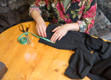 裁缝工作。 免版税图库摄影