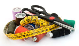 裁缝工具 免版税图库摄影