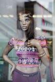 裁缝的假的时装模特 库存照片