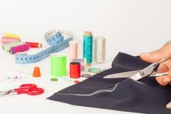裁缝的剪刀裁减 免版税库存图片