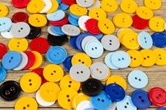 裁缝的色的按钮 免版税库存照片