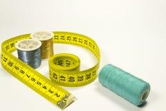 裁缝米和线程数 免版税库存图片