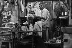 裁缝,瑞诗凯诗,印度b/w 免版税库存图片