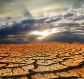 裂化的干燥地球 免版税库存照片