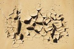 裂化的泥 库存图片