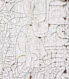 裂化的白色油漆 免版税图库摄影