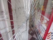 裂化的玻璃 免版税库存图片