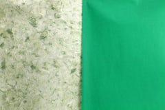裂口绿色自然手工纸 免版税库存照片