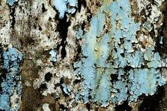 破裂和削皮油漆和老墙壁有纹理的 免版税库存图片