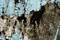 破裂和削皮油漆和老墙壁有纹理的 库存照片