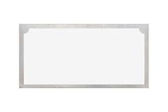 裂片在白色背景隔绝的名字板极 图库摄影