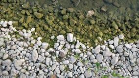 裂片绿色岩石 免版税库存图片