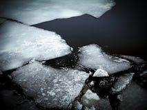 破裂的冰 库存图片