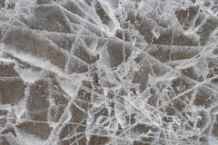 破裂的冰 库存照片