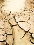 破裂的土壤地面 免版税库存图片