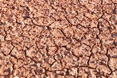 破裂的土壤地面 图库摄影