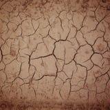 破裂的土壤干燥地球纹理,抽象背景 免版税库存图片
