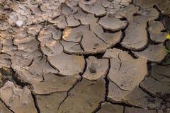 破裂的地球地面干旱 库存图片