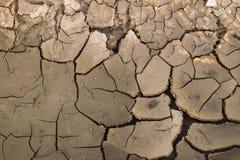 破裂的地球地面干旱 免版税库存照片