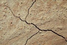 破裂的地球特写镜头 免版税库存图片