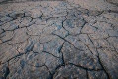 破裂的地球纹理 库存图片