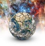 破裂的地球 库存图片